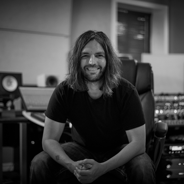 Picture of Terry smiling in his studio.